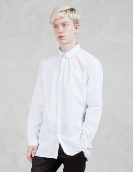 STAMPD Mesh Overlay Dress Shirt Picture