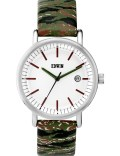 EDWIN Watch Camo Band With White Dial Epic Picture