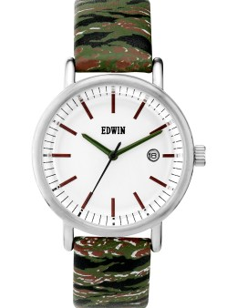 EDWIN Watch Camo Band With White Dail Epic Picture