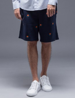 Parra Orange Juice Piqué Shorts Picture