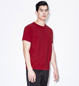 "VAINL ARCHIVE Red ""Sam"" S/S Crewneck Sweater Picture"
