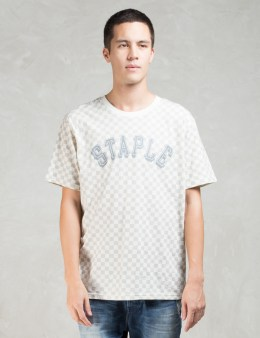 Staple White S/S Damier T-Shirt Picture