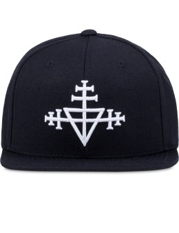 Black Scale Triple Templar Snapback Cap Picture