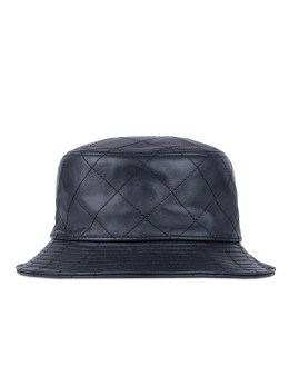 STAMPD Black Leather Quilted Bucket Hat Picture