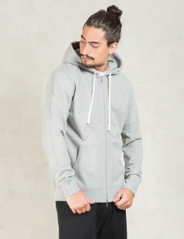 REIGNING CHAMP Grey Core Full Zip Hoodie Picture