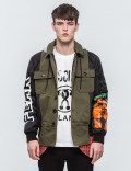 MOSCHINO Multi Fabric Patch Parka Picture