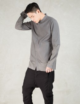 SILENT DAMIR DOMA Grey Similys Mandarin Shirt Picture