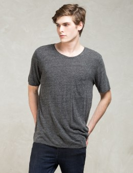Nudie Jeans Grey S/S Roundneck Pocket T-shirt Picture
