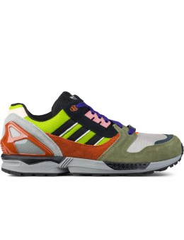 adidas Originals Semi Solar Slime/core Black/fox Red F14-st ZX 8000 Sneakers Picture