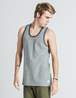 REIGNING CHAMP Heather Grey/Navy RC-2069-1 Reversible Tank Top Picture