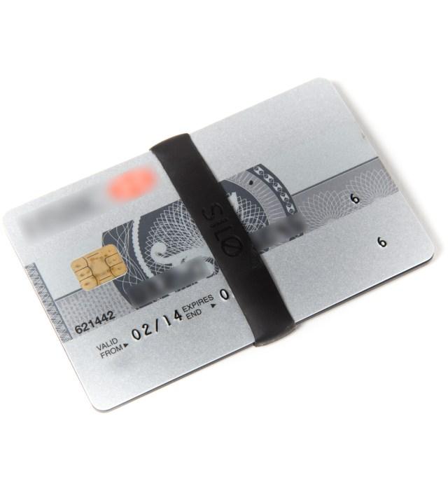 SILO Black Mesh Card Wallet