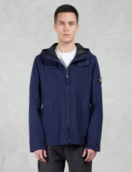 STONE ISLAND 43129 Hooded Waterproof Jacket Picture