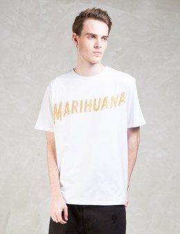 Palm Angels Glitter Marihuana S/S T-Shirt Picture