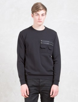 DIESEL BLACK GOLD Strendy Unbrushed Cotton Fleece Sweatshirt Picture