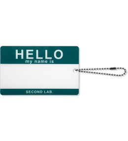 SECOND LAB Green Hello Name Plate Picture