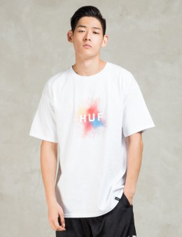 HUF White Splatter Box Logo T-shirt Picture