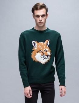 MAISON KITSUNE Fox Head Pullover Sweater Picture