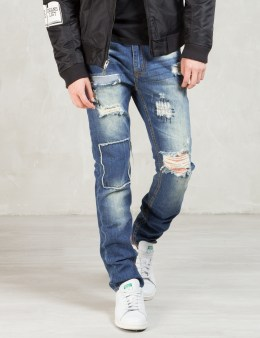 Billionaire Boys Club Blue Destroy N  Patch Wash Denim Picture