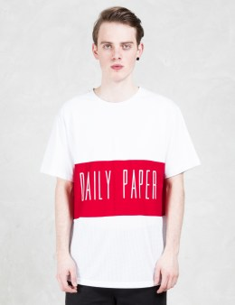 Daily Paper Script Logo Mesh Panel T-shirt Picture