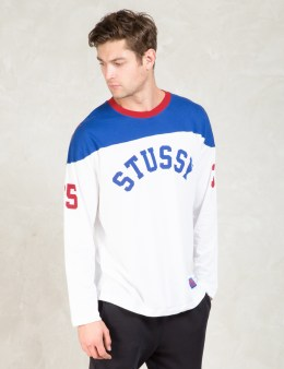 Stussy White Star Hockey Jersey Picture