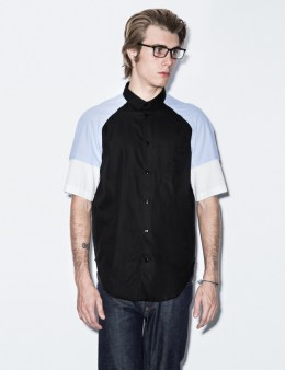CARVEN Black Oxford S/S Shirt Picture