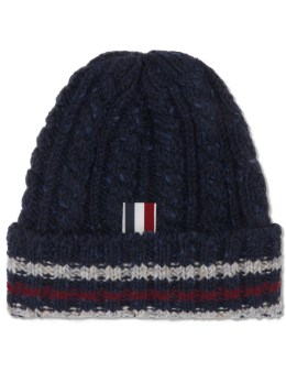 THOM BROWNE Aran Tweed Cable Funmix Beanie Picture