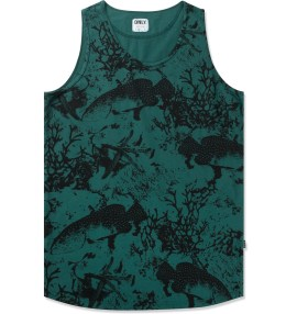 ONLY NY Dark Sea Green Under The Sea Tank Top Picture