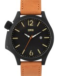 EDWIN Watch Black Dial With Brown Leather Band Brook Picture