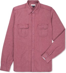 The Unbranded Brand Red UBS-680 Chambray Shirt Picture