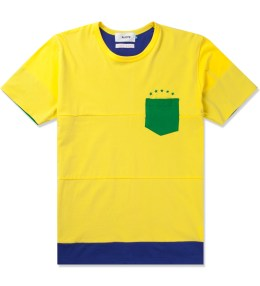 Aloye Aloye x WONG WONG Yellow/Blue Brazil Color Blocked S/S T-Shirt Picture