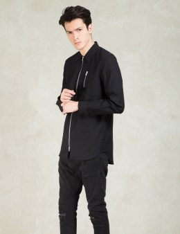 Tourne de Transmission Black Psycho Zip Oxford Shirt Plain Picture