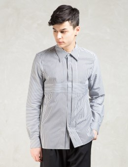 Paul Smith Black/white Multi Stripes Patch Formal Shirt Picture
