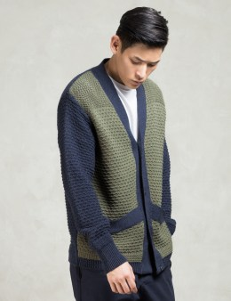GARBSTORE Navy/olive 3 Button Dress Cardigan Picture