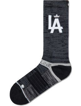 Strideline Charcoal Crown Strapped Fit 2.0 Socks Picture