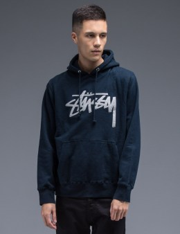 Stussy Navy Stock Felt Hoodie Picture