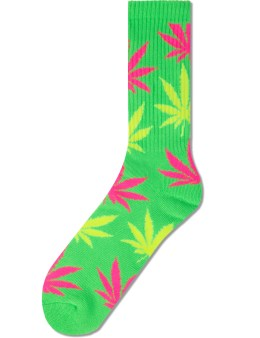 HUF Neon Lime Neon Plantlife Socks Picture