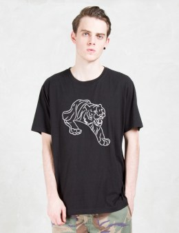 maharishi Line Tiger Embroidered S/S T-shirt Picture