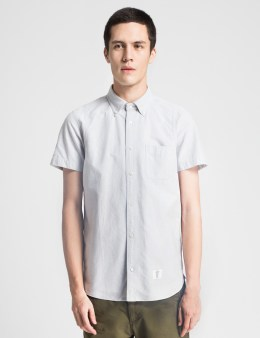 BEDWIN & THE HEARTBREAKERS Grey Brian S/S B.D OX Armhole Layerd Shirt Picture