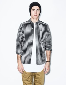 Hombre Nino Black Mesh Panel Shirt Picture