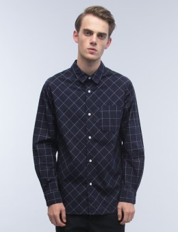 Head Porter Plus Windowpane Check L/S Shirt Picture