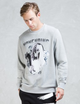 NONAGON Skull Collage Graphic Sweatshirt Picture