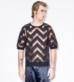 Paul Smith Black Zig-Zag Rainbow Stripe S/S Sweater Picture