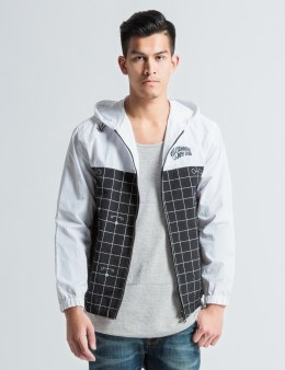 Billionaire Boys Club White 3M Perspective Grid Zip Nylon Jacket Picture