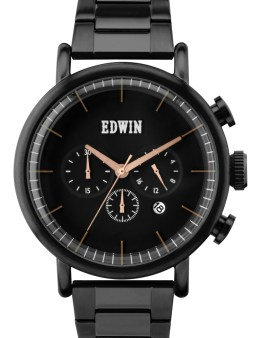 EDWIN Watch Black With Black Dial Element Picture