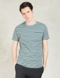 Poler Green/white Stripe T-Shirt Picture