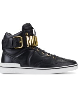 MOSCHINO Moschino Logo Chain High Top Sneakers Picture