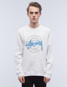 Stussy Ist Dot Applique Crewneck Sweatshirt Picture
