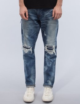 Denim by Vanquish & Fragment Damage Five Years Wash Tapered Denim Jeans Picture