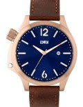 EDWIN Watch Blue Dial With Brown Leather Band Brook Picture