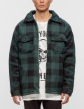 Warren Lotas Flaming Skull Plaid Sherpa Jacket Picture